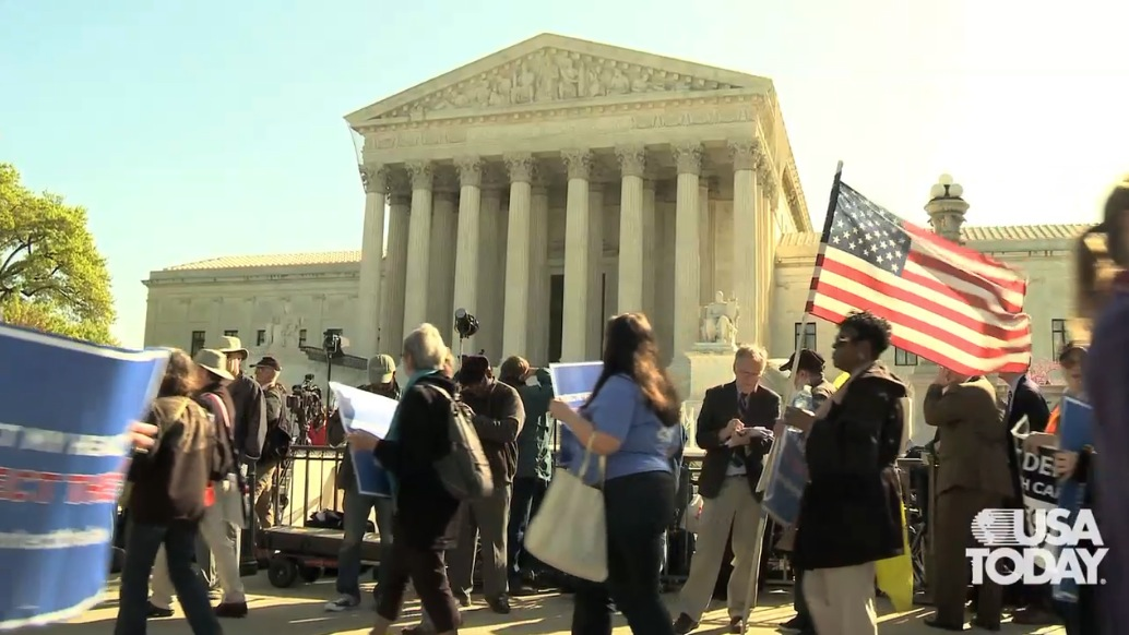 Protesters discuss health care showdown at Supreme...