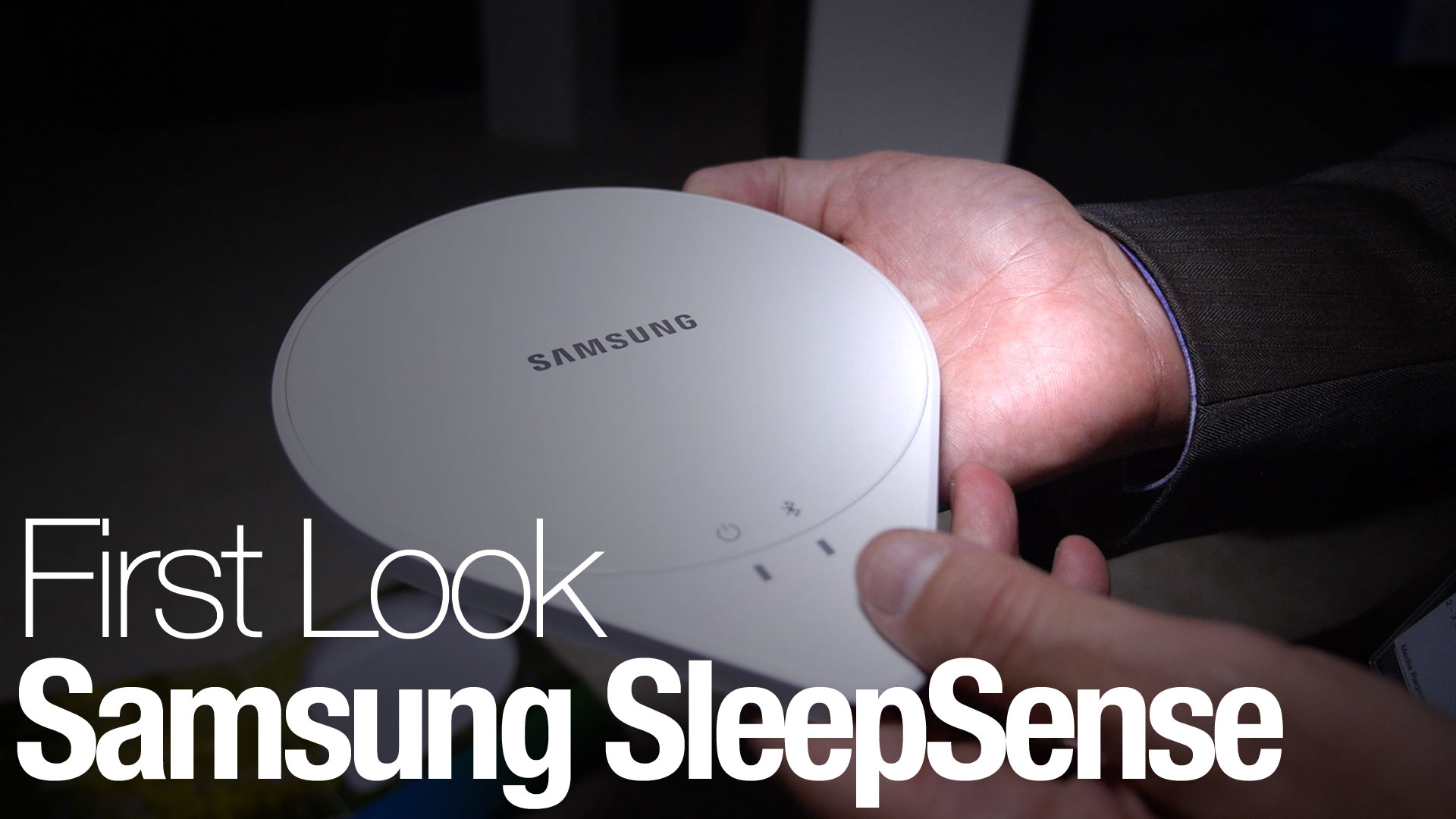 The new Samsung SleepSense can monitor your sleeping habits, and communicate with connected appliances.