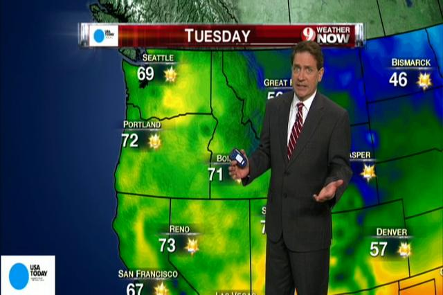 Video: National weather forecast for Tuesday Oct. 9