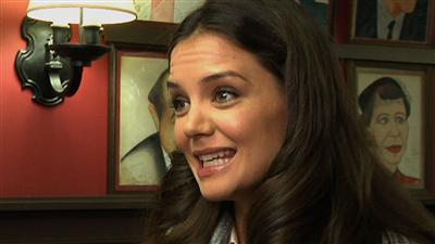 Katie Holmes talks of only new play at NY event