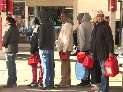 Raw: Long lines at NYC gas stations