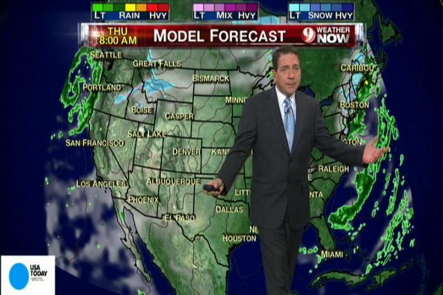 National weather forecast for Wednesday Nov. 7