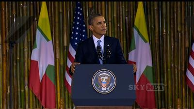Obama to Burma: America is with you