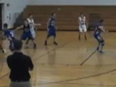 Raw: High school player makes full court shot