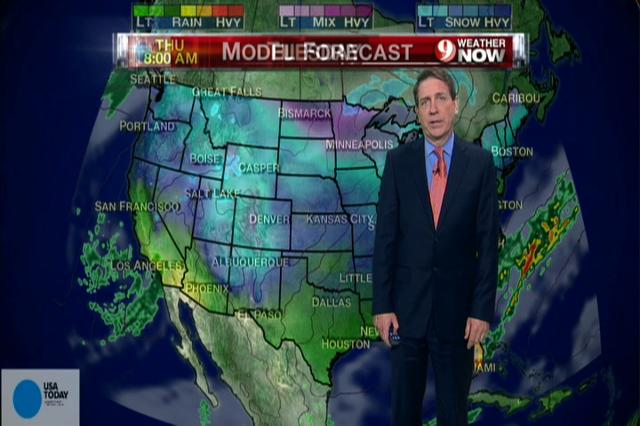 Video: National weather forecast for Wednesday Dec. 12