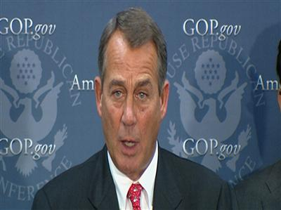 White House rejects Boehner's 'fiscal cliff' Plan B