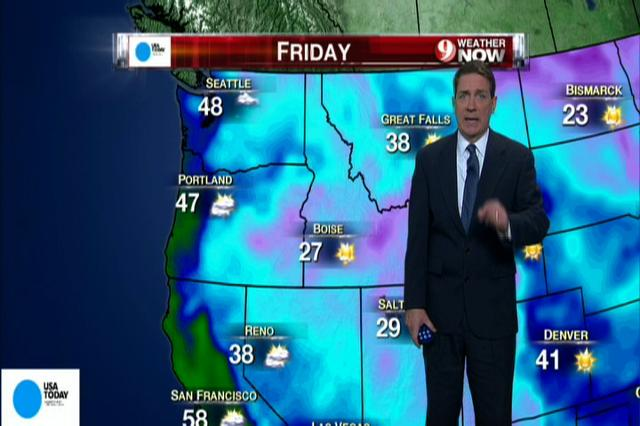 National weather forecast for Friday Jan. 4