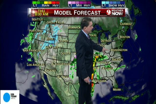 Video: National weather forecast for Wednesday Jan. 9