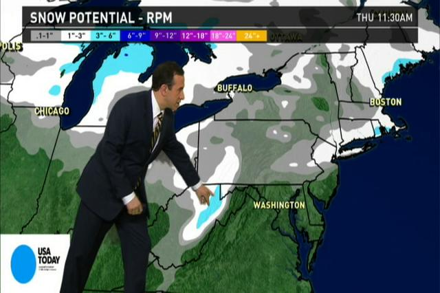 Video: National weather forecast for Tuesday Feb. 5