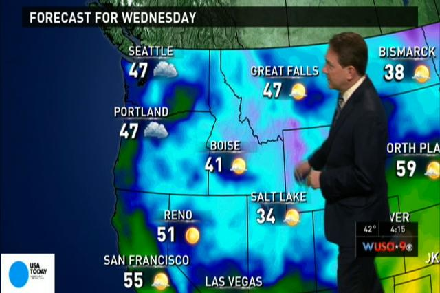 Video: National weather forecast for Wednesday Feb. 6