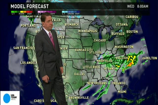 Tuesday's forecast, new storms in the south