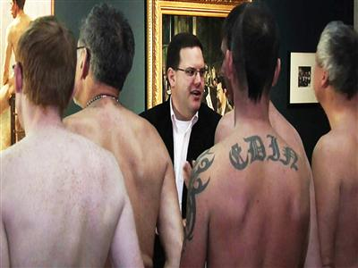 'Naked Men' exhibit draws nudists to museum