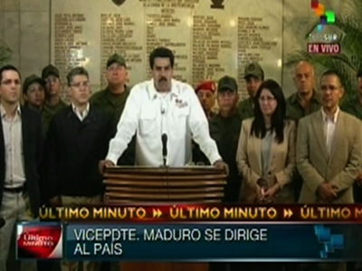 Watch: VP announces Hugo Chavez has died