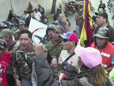 Raw video: Tearful Chavez supporters take to streets
