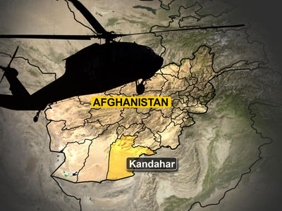 An official says the helicopter went down outside Kandahar city, the capital of Kandahar province.