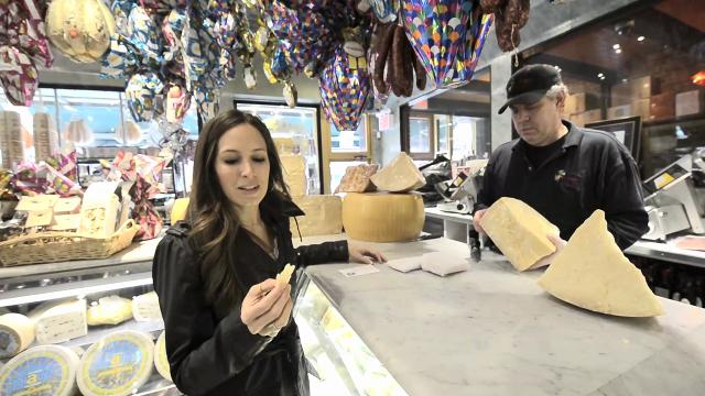 Shopping for cheese in New York's Little Italy