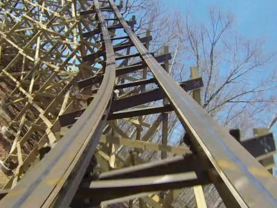 Raw: Ride on 'first-of-its-kind' Mo. coaster