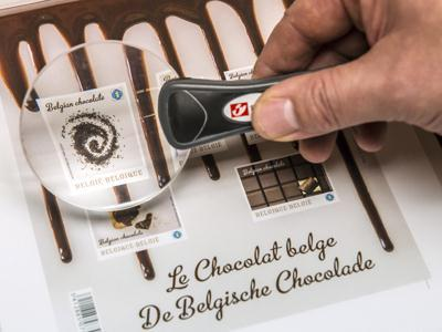 Chocolate-flavored postage stamps? In Belgium, yes