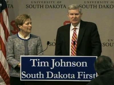 Sen. Tim Johnson, D-S.D., announced he will retire when his third term ends in January 2015.