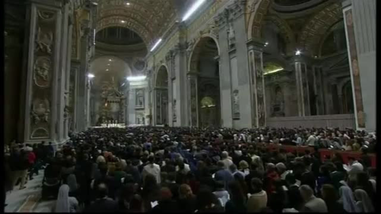 Pope Francis conducts Easter vigil Mass