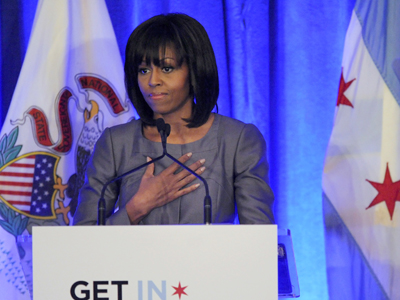 First lady wades into debate over gun violence