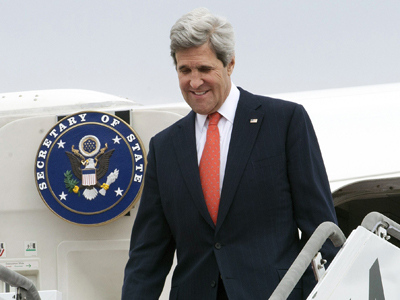 Raw: Kerry arrives in S. Korea amid missile fears