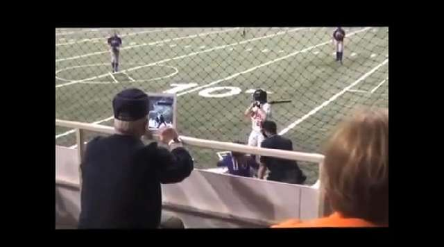 Softball fan saves face using iPad