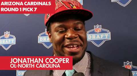 Jonathan Cooper beams after draft