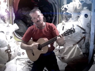 Watch: Astronaut makes music video in space