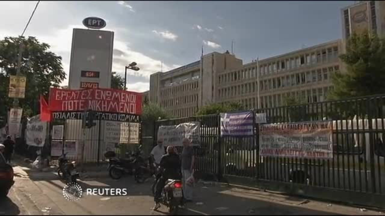 Greece back in crisis after TV shutdown