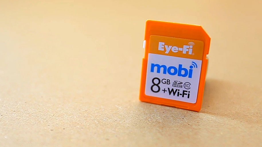 Back up photos wirelessly with Eye-Fi's Mobi