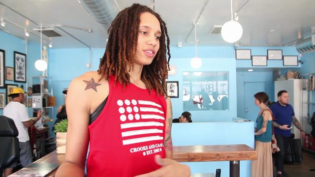 WNBA star Brittney Griner discusses her transitions from college to the pros, her dunking and her tattoos.