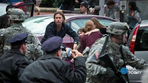 Brad Pitt addresses 'World War Z' rumors | USA Entertainment Now