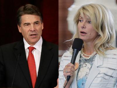 Perry, filibuster star clash over Texas abortion