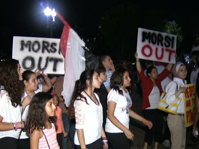 Egypt Debate Heats Up Outside White House