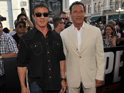 Sly and Arnie hit Comic-Con with 'Escape Plan'