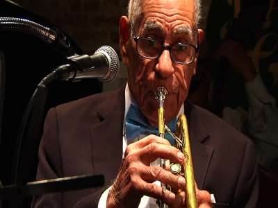 Jazz trumpeter plays on at 102