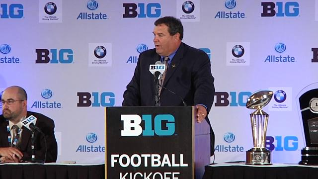 Big Ten Media Day: Michigan's Brady Hoke