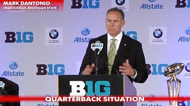 Big Ten Media Day: Michigan State's Mark Dantonio