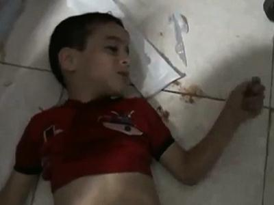 Official releases video showing Syria victims