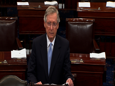 Raw: McConnell won't vote for military strike