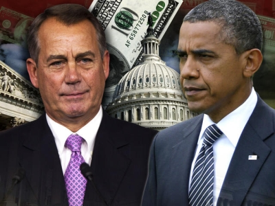 Obama pins government shutdown on Boehner