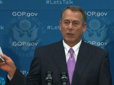 Boehner on shutdown: 'This isn't some damn game'