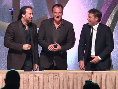 Cage and Tarantino attend Macau Gala Dinner