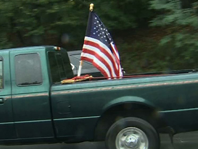 Truckers protest federal government shutdown