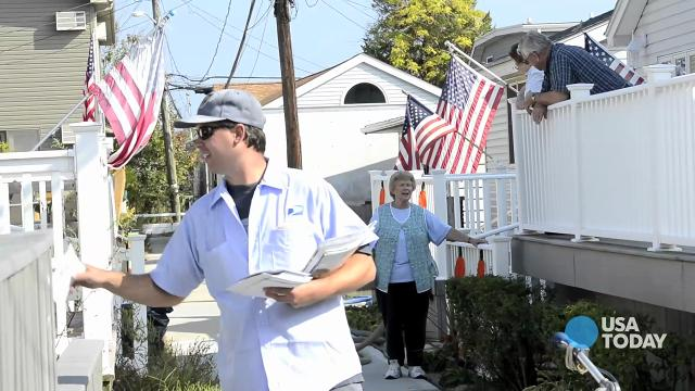 Breezy Point, NY, was hit hard by Hurricane Sandy nearly a year ago.  Flooding and fire destroyed countless homes.  Mail carrier Erik Johnson talks about the place he still calls home. (Video by Eileen Blass, USA TODAY)