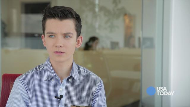 "Asa Butterfield shows ""Racing Blind,"" the iPad app he created with his father."