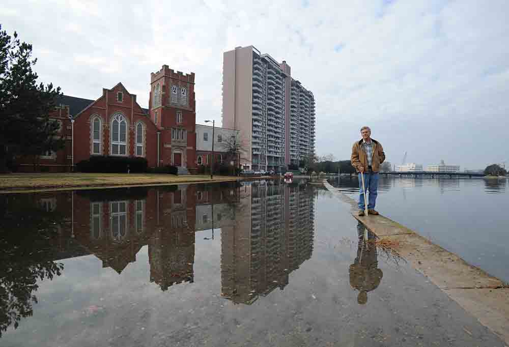 Rising sea level threatens Norfolk