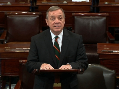 Durbin: Reid sounded good in call from hospital