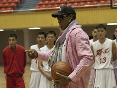 Rodman talks training Nkorea bball players